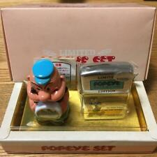 Zippo Oil Lighter Popeye Silver And Mini Table Clock Set Anime Manga Japan F/S
