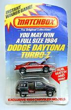 Matchbox Dodge Daytona Gewinnspiel Giftset USA 1983
