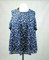 Lovedrobe Cold Shoulder Floral Top Size 18 uk rrp £42 CR099 BB 01