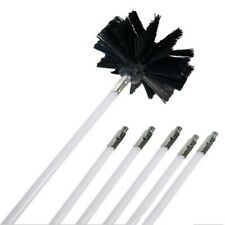 12FT Chimney Cleaner Brush Cleaning Rotary Sweep System Fireplace Kits Rod Set