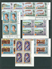 GB JERSEY 1969 QEII DEFINITIVES (Sc 7-21 complete) VF MNH blocks of 4