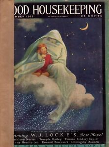 1923 Good Housekeeping December - Jessie Willcox Smith; Christmas; Indians; Dogs