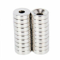20Pcs 15 x 4mm Hole 5mm Round Neodymium Countersunk Ring Rare Earth N50 Magnet