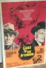 Sam Peckinpah GUNS IN THE AFTERNOON UK one-sheet poster RIDE THE HIGH COUNTRY