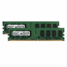 For Kingston 4GB 2X 2GB PC2-5300U DDR2 667MHz 2RX8 Desktop Memory RAM DIMM Intel