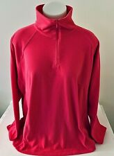 Columbia Womens 3X Pink Fleece Jacket Coat 1/4 Zip Pullover High Neck Collar