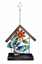 "Continental Art Center Butterfly Hanging HouseShape Birdfeeder,9.45""x3.7 4""x17.32"