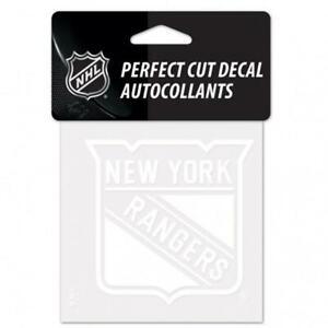 "New York Rangers White 4""x4"" Car Decal [NEW] NHL Auto Sticker Emblem Logo"