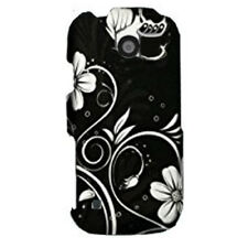 FOr LG Attune UN270 Rubberized Hard Case Snap on Phone Cover White Flowers