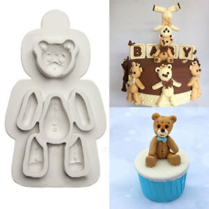 3D Bear Silicone Fondant Mould Cake Animals Teddy Wild Zoo Chocolate Baking Mold