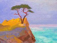 California Pebble Beach Cypress Carmel Landscape Art Oil Painting Impressionism