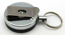 Attache Porte Badge ID Porte Clés Enrouleur Zip 60 cm en Métal Pince Ceinture