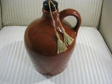 Vintage Little Brown Jug, Plays Wind up Music, Ceramic