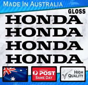 Honda style Stickers - GLOSS Black set of 4 JDM,  Civic JDM Outboard Bike decal