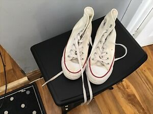 Size 3 Converse White High Tops