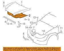 TOYOTA OEM 03-08 Matrix Hood-Insulation Pad Liner Heat Shield 5334101010