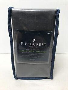 NIP Fieldcrest 700 TC Sateen 2 Pillowcase Set Satin-Stitch King Molten Lead New