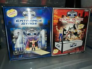 Wrestlemania 21 Value Pack Entrance Stage And Stunt Action Ring Combo Set In Box