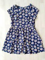 H! By Henry Holland Size 16 Navy Blue Floral Dress Sundress Tea Retro Print