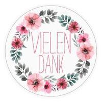 24 VIELEN DANK Aufkleber Sticker Danke -zB für Geburtstag, Hochzeit, Weihnachten