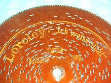 """Loreley piastra di lamiera 14,5cm SYMPHONION Orologio Giocattolo Orologio 5 3/4"""" DISC Antique Music Box"""