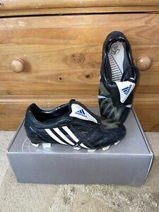 Adidas Predator Powerswerve FG Football Boots Black White Size UK 4 Junior