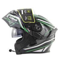 DOT Bluetooth Headset Double Visors Flip Up Helmet Motorcycle Helmets Motorbike