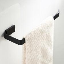 Moden Black Bathroom Towel Rack Holder Wall Mounted Single Towel Rail Bar Brass