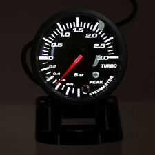 Pro 60mm 2.5″ LED Car Turbo Boost Pressure Gauge Meter Smoked Dials Psi DC 12V