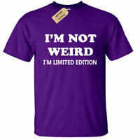 KIDS BOYS GIRLS I'm not weird i'm limited edition T Shirt funny gift