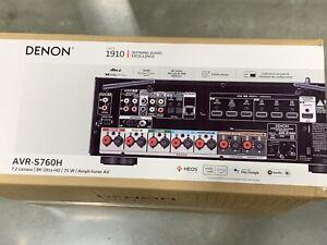 Denon AVR-S760H 7.2-Channel 8K AV Receiver Dolby Atmos DTS X, 2021 Model