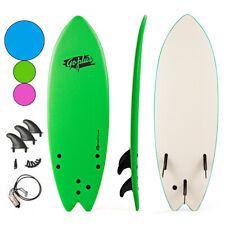 """5'5"""" Surf Board Surfing Beach Ocean Foamie Board w/Wrist Rope & 3 Fins Green"""