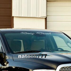 DIRTY DIESEL Car Truck SUV Sport 4x4 Windshield Vinyl Decal sticker emblem logo