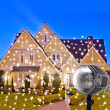 LED Snowflake Projector Lights Outdoor Christmas Projector Holiday Decor