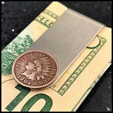 New Credit Card Money Clip Wallet Antique Indian Head Penny Coin 🇺🇸 1 Cent F48