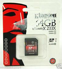 Kingston SDXC Class10 Flash Card SD10A/64GB UltimateX 233X, 64GB, 60MB/s, 35MB/s