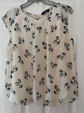 Ladies Size 18 Horse Print Blouse Dorothy Perkins