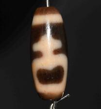 old tibetan dzi bead agate genuine nectar bottle antique gzi amulet necklace