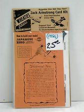 "GENERAL MILLS U/A ""JAPANESE ZERO"" JACK ARMSTRONG CARD KIT/CIRCA 1944"