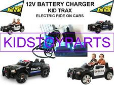 12 Volt Battery Charger KID TRAX DODGE PURSUIT POLICE CAR w/LARGE Blue Connector