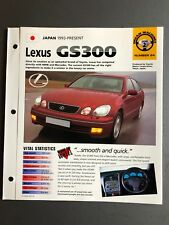 "1993 > Lexus GS300 Sedan IMP ""Hot Cars"" Spec Sheet Folder Brochure Awesome L@@K"