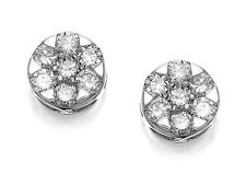 18 quilates diamante Daisy Cluster pendientes de par cuarto quilates Mini 0.10ct de 3.5mm de ancho