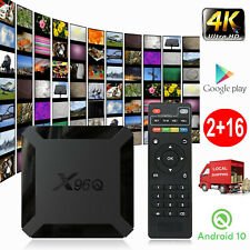 X96Q 2+16G Android 10.0 OS Quad Core 4K Smart TV BOX 2.4G WIFI HDMI Allwinner ES