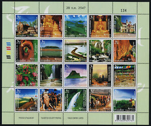 Thailand 2147 MNH Tourist Attractions, Temples, Waterfalls, Elephants, Flowers