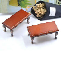 1/12 Dollhouse Miniature Mini Wooden Coffee Table Simulation Table Furniture YK