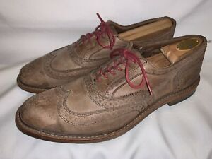 Allen Edmonds McTavish Rustic Brown Brogue Waxed Mens Dress Shoes 10.5 D