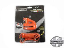 KRYPTONITE MOTORBIKE / SCOOTER KEEPER DISC LOCK 5-S2 & REMINDER CABLE - ORANGE