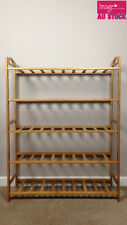 5 Tiers Bamboo Shoe Rack Storage Organiser Standing Shoes Shelves 8106 YW