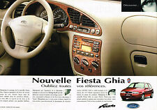 PUBLICITE ADVERTISING 025  1996  FORD FIESTA GHIA   ( 2 pages)