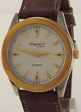 Regent Herrenuhr / Quartz / teilweise vergoldet